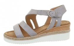 Dámske sivé sandále Q5664