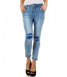 Dámske štýlové jeansové nohavice Mozzaar Q2023