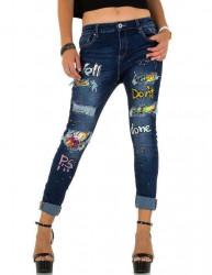 Dámske štýlové jeansy Mozzaar Q3166