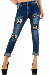 Dámske štýlové jeansy Mozzaar Q3406