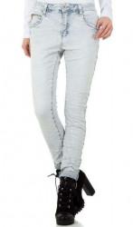 Dámske štýlové jeansy Mozzaar Q3668