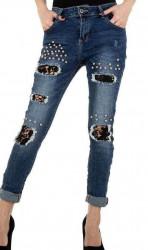 Dámske štýlové jeansy Mozzaar Q4841