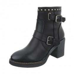 Dámske štýlové topánky na podpätku Q0223