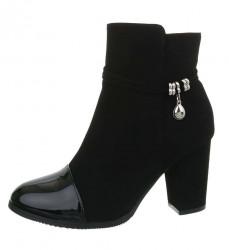 Dámske štýlové topánky na podpätku Q6008