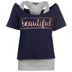 Dámske štýlové tričko Golddigga H5902