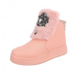 Dámske štýlové zimné topánky Q0186
