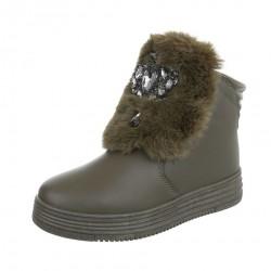 Dámske štýlové zimné topánky Q0187