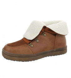 Dámske štýlové zimné topánky Q2986