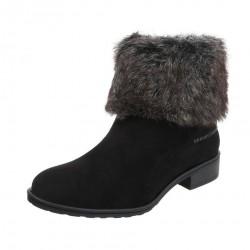 Dámske štýlové zimné topánky s kožušinou Q0156