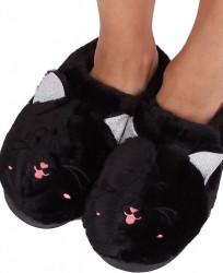 Dámske teplé papučky s mačičkou N1571