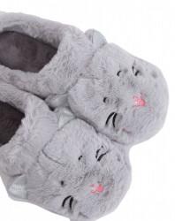 Dámske teplé papučky s mačičkou N1572