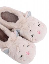 Dámske teplé papučky s mačičkou N1574