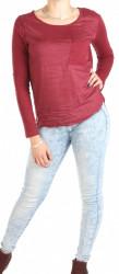 Dámske vínovej tričko s kapsičkou Eight2Nine W0757