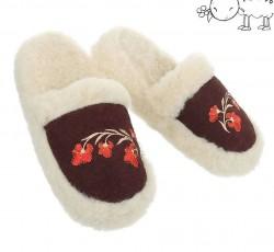 Dámske vlnené papuče Q0617
