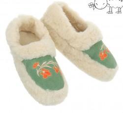 Dámske vlnené papuče Q0717