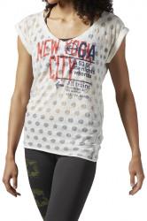 Dámske voĺnočasové tričko Reebok D0553