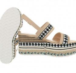 Dámske vysoké sandále Q4183 #1