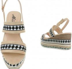 Dámske vysoké sandále Q4183 #2