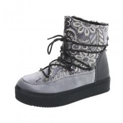 Dámske vysoké zimné topánky Q0232