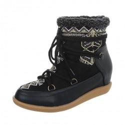 Dámske vysoké zimné topánky Q0237