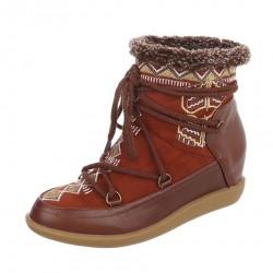 Dámske vysoké zimné topánky Q0238