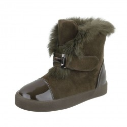 Dámske vysoké zimné topánky s kožušinou Q0118