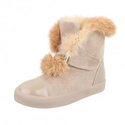 Dámske vysoké zimné topánky s kožušinou Q0119