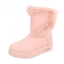 Dámske vysoké zimné topánky s kožušinou Q0122