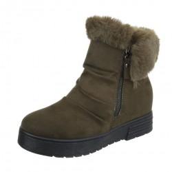 Dámske vysoké zimné topánky s kožušinou Q0129