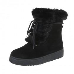 Dámske vysoké zimné topánky s kožušinou Q0139