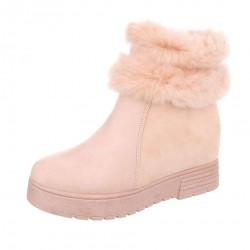 Dámske vysoké zimné topánky s kožušinou Q0152