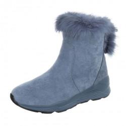 Dámske vysoké zimné topánky s kožušinou Q0161
