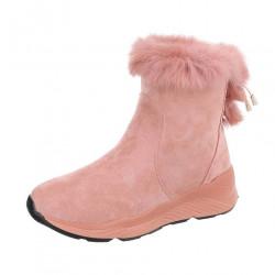 Dámske vysoké zimné topánky s kožušinou Q0162