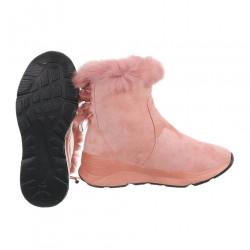 Dámske vysoké zimné topánky s kožušinou Q0162 #1