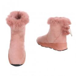 Dámske vysoké zimné topánky s kožušinou Q0162 #2