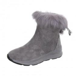 Dámske vysoké zimné topánky s kožušinou Q0163