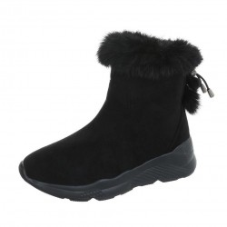 Dámske vysoké zimné topánky s kožušinou Q0164