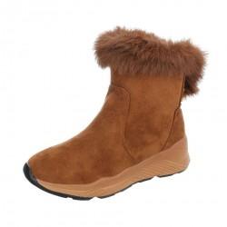 Dámske vysoké zimné topánky s kožušinou Q0165