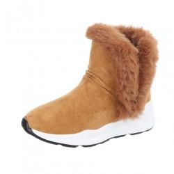 Dámske vysoké zimné topánky s kožušinou Q0167