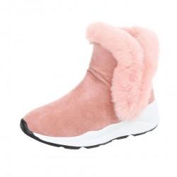 Dámske vysoké zimné topánky s kožušinou Q0169