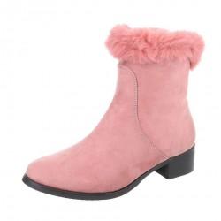 Dámske vysoké zimné topánky s kožušinou Q0239