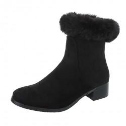 Dámske vysoké zimné topánky s kožušinou Q0240