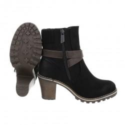 Dámske zimné topánky na podpätku Q0102