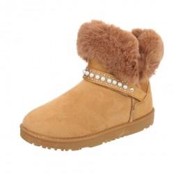 Dámske zimné topánky s kožušinou Q0193