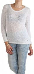 Dámsky biely pulóver Sublevel W0750