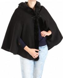 Dámsky čierny kabát New Look W1253