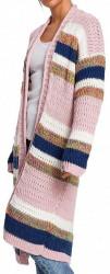 Dámsky dlhý pruhovaný pulóver N1449