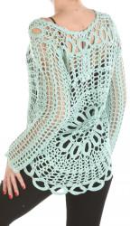 Dámsky háčkovaný svetrík Fresh Made W2263 #1