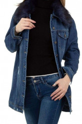 Dámsky jeansový kabát Q9348