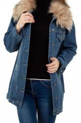 Dámsky jeansový kabát Q9350